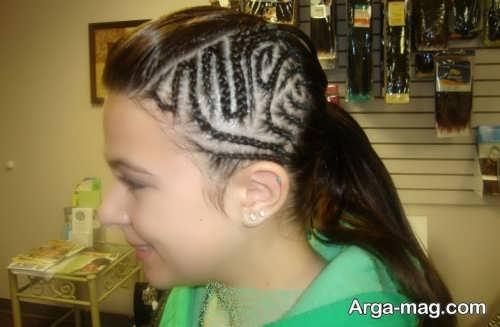 مدل بافت موی زیبا کف سر