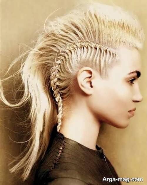مدل بافت موی زیبا برای کف سر