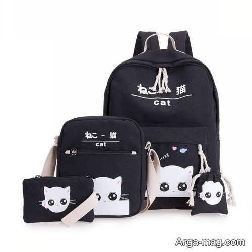 مدل کیف رنگ تیره برای مدرسه
