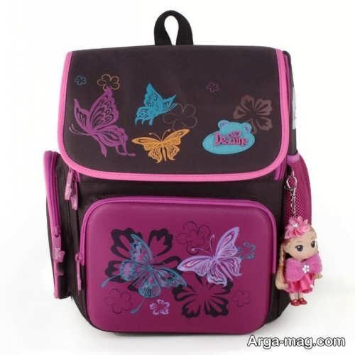 کیف دخترانه طرح دار برای مدرسه