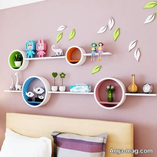 شلف دیواری برای اتاق کودک