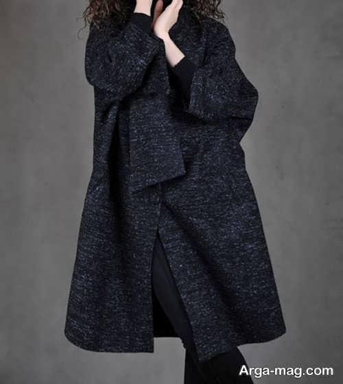 مدل مانتو زمستانه رنگ تیره