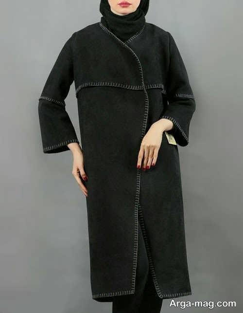 مدل مانتو بلند زمستانه