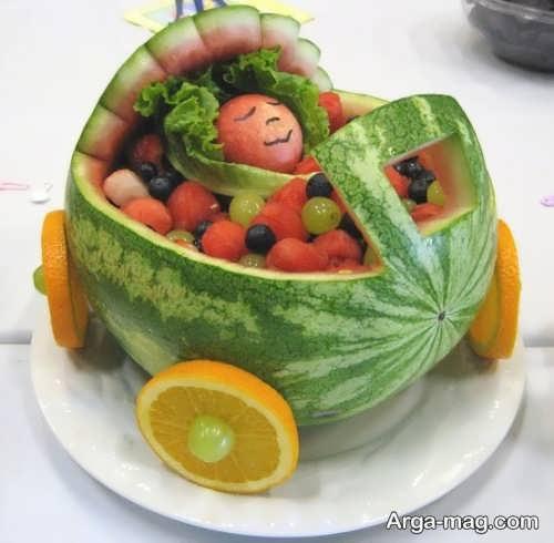 تزیین زیبا و جالب هندوانه