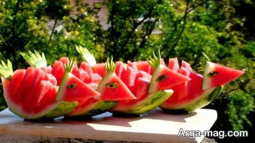 تزیین هندوانه مخصوص شب یلدا
