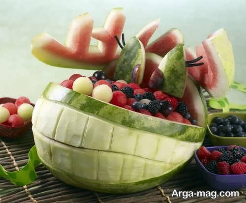 تزیین جالب و زیبا هندوانه