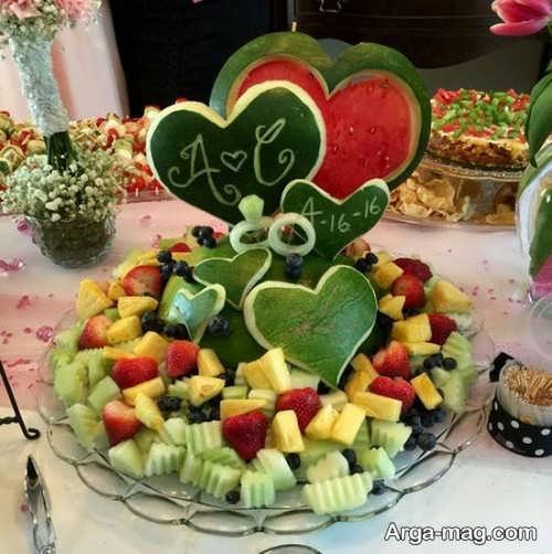 تزیین زیبا و جذاب هندوانه