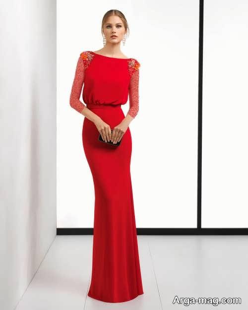 لباس مجلسی قرمز 2019