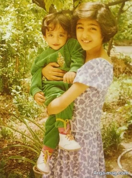 عکس دیده نشده از دوران کودکی گلشیفته فراهانی