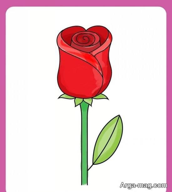 نقاشی اولیه گل رز