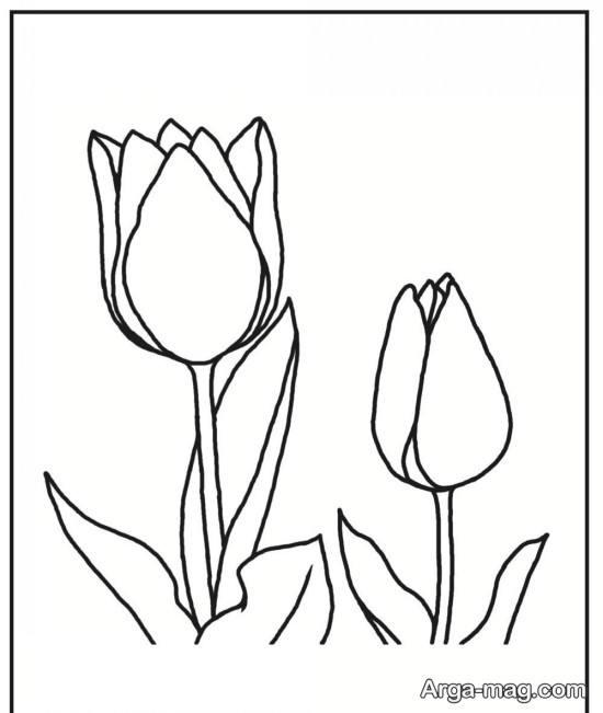 کشیدن گل رز آسان