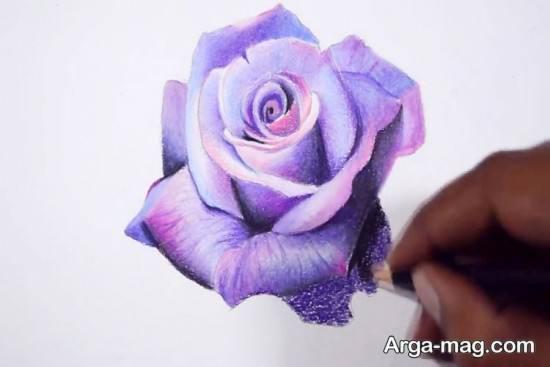 نقاشی گل رز جالب