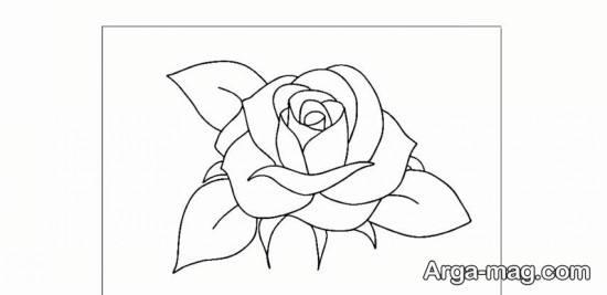 نقاشی جذاب گل رز