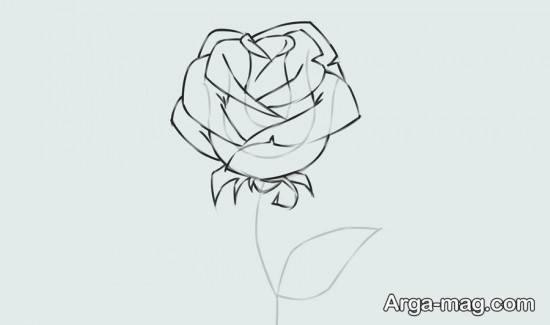 نقاشی آموزشی گل رز