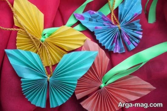 کاردستی جالب و زیبای پروانه