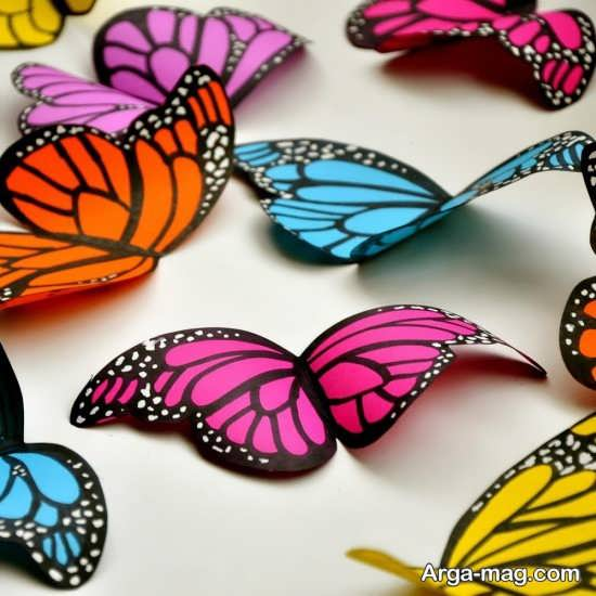 ساخت پروانه به شکل زیبا