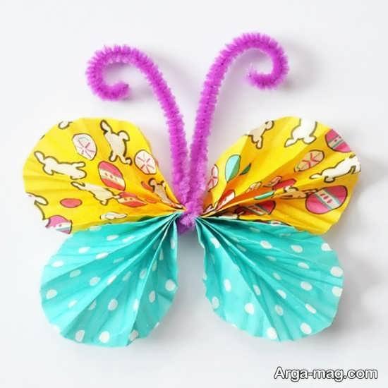 ساخت هنرمندانه پروانه با وسایل ساده
