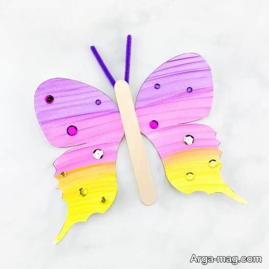 ساخت پروانه های کاغذی