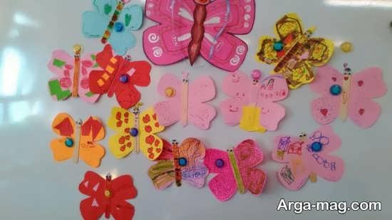 ساخت پروانه های رنگی و زیبا