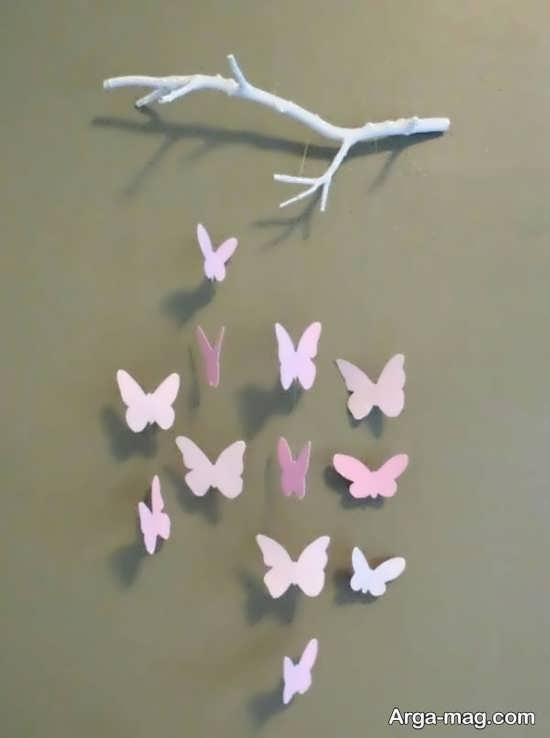 ساخت آویز زیبای پروانه