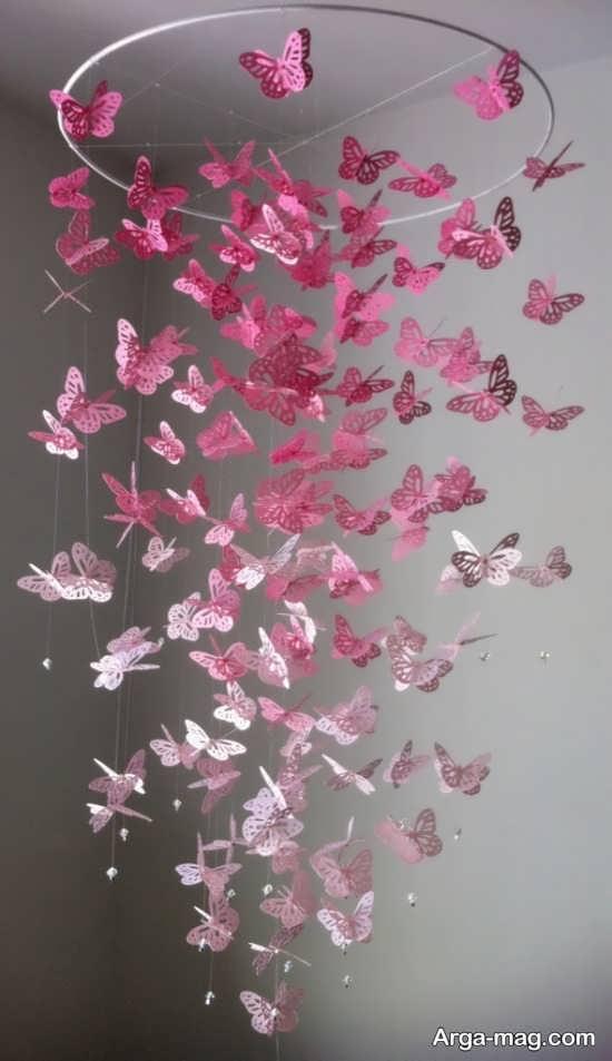انواع آویز با پروانه پروانه