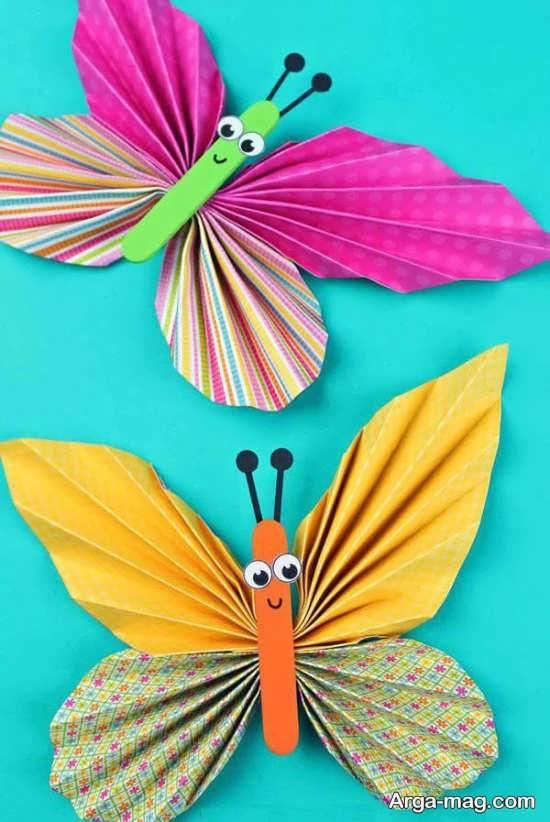 کاردستی های خاص و زیبا به شکل پروانه