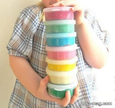 خمیر بازی رنگی برای کودکان