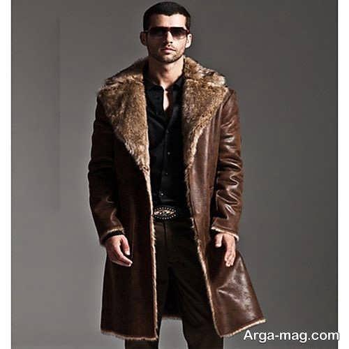 مدل پالتو چرم و خزدار مردانه