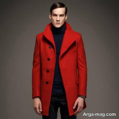 مدل پالتو قرمز مردانه