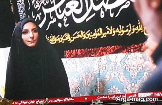 نفیسه کوهنورد با حجاب اسلامی