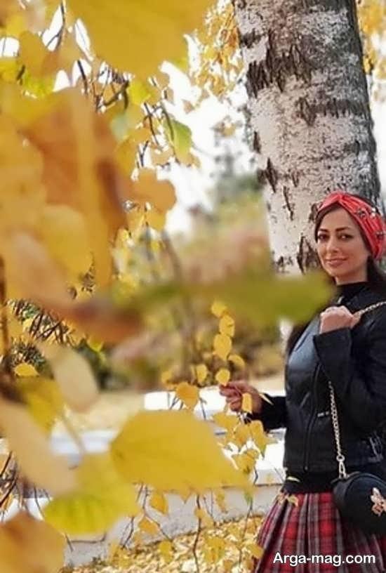 تیپ نفیسه روشن در پاییز اسپانیا