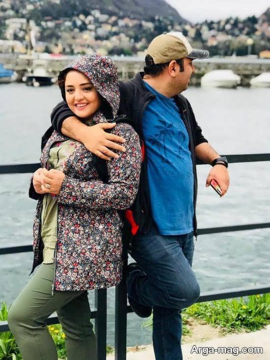 وقتی نرگس محمدی در کنار همسرش ناز می کند+عکس