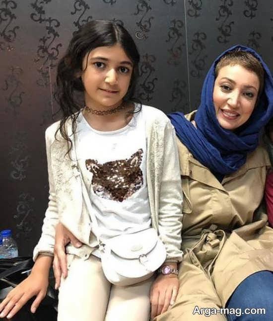نگار عابدی و دخترش اما