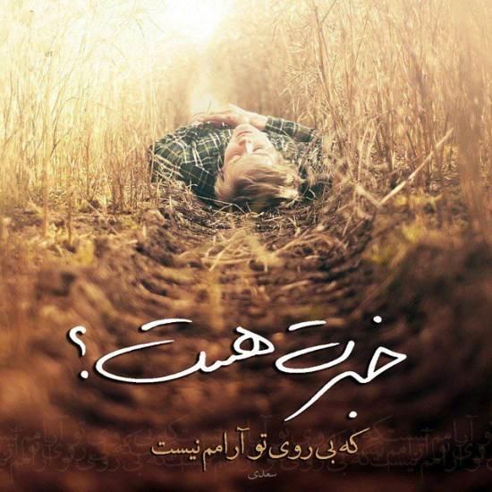 عکس نوشته متعلق به سعدی