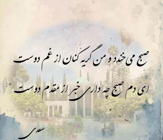 عکس نوشته گلچین از سعدی