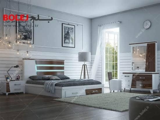 تخت خواب مدرن و زیبا