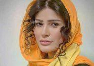 خانم بازیگر با روسری سنتی