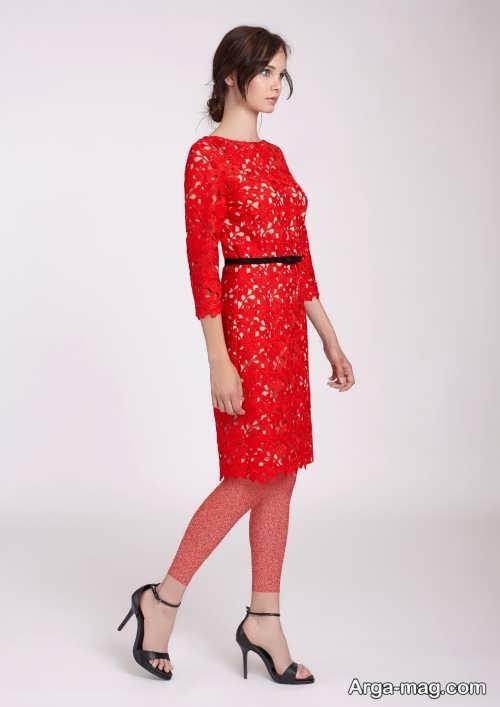 لباس شب قرمز و کوتاه