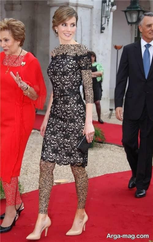 مدل لباس شب کوتاه گیپور زنانه
