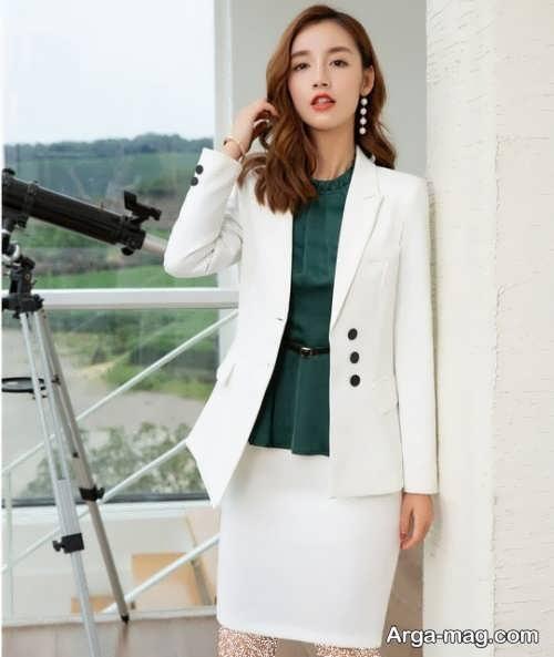 مدل کت و دامن سفید 2019