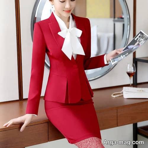 کت و دامن قرمز و اسپرت دخترانه