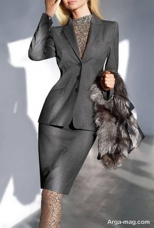 کت و دامن ساده