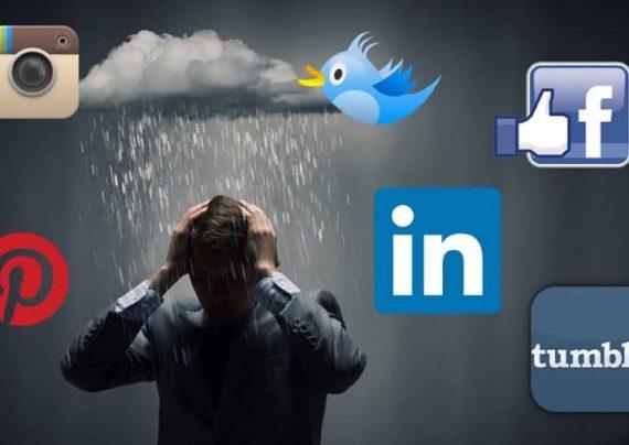تاثیر شبکه های اجتماعی بر میزان افسردگی