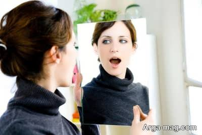 درمان لکنت زبان با آینه