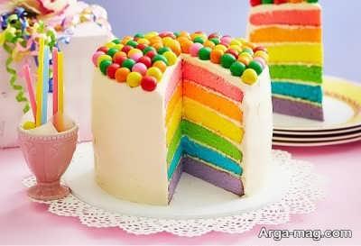 دستور تهیه کیک رنگین کمان