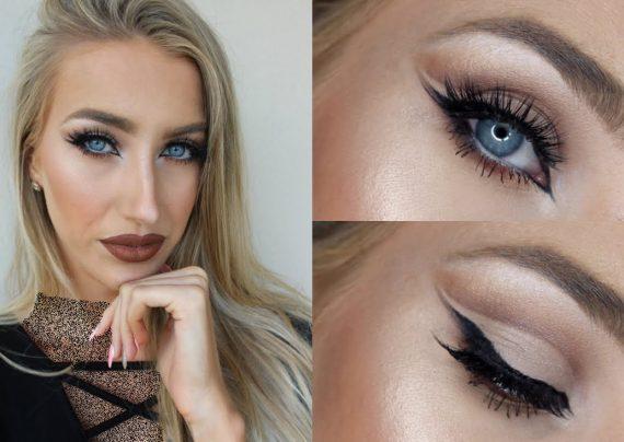 مدل آرایش چشم بادامی