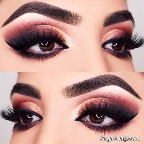 مدل آرایش چشم بادامی زیبا