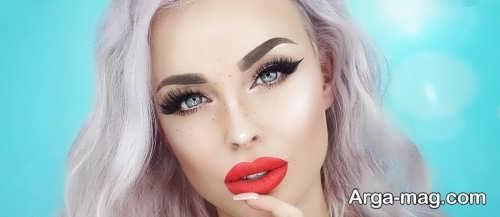 مدل آرایش زیبا چشم بادامی