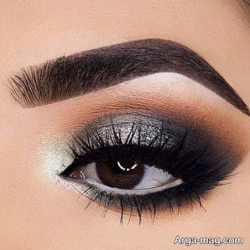 مدل آرایش اسموکی برای چشم بادامی