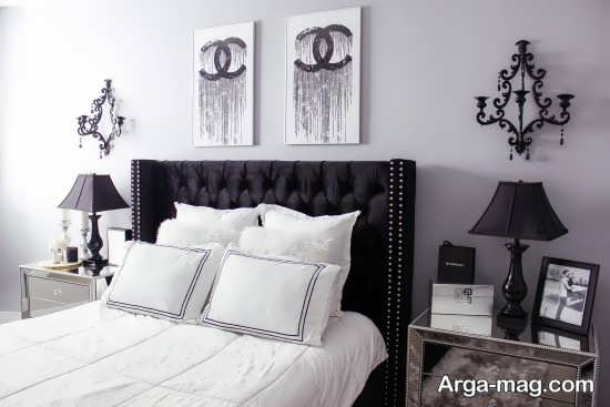 دکوراسیون اتاق خواب سیاه سفید